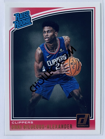 Shai Gilgeous-Alexander - Los Angeles Clippers Panini Donruss 2018-19 #162 Rated Rookie
