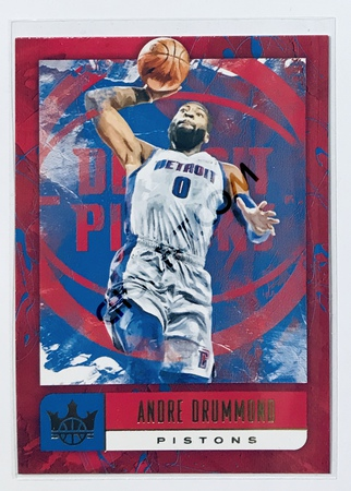 Andre Drummond Panini Court Kings 2018-19 NBA Base Card #6 Detroit Pistons