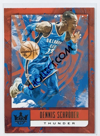 Dennis Schroeder Panini Court Kings 2018-19 NBA Base Card #12 Oklahoma City Thunder
