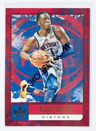 Reggie Jackson Panini Court Kings 2018-19 NBA Base Card #16 Detroit Pistons