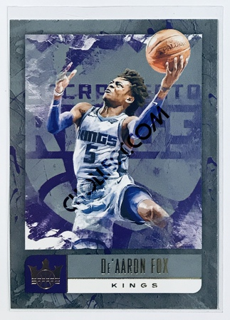 De'Aaron Fox Panini Court Kings 2018-19 NBA Base Card #19 Sacramento Kings
