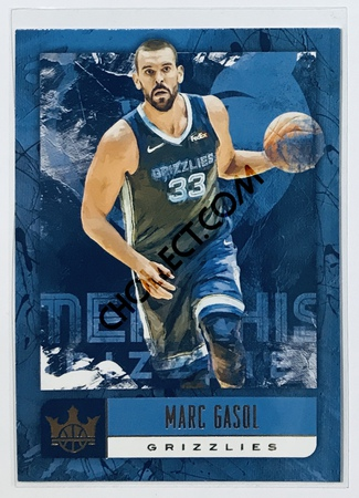 Marc Gasol Panini Court Kings 2018-19 NBA Base Card #33 Memphis Grizzlies