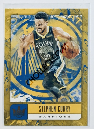 Stephen Curry Panini Court Kings 2018-19 NBA Base Card #37 Golden State Warriors