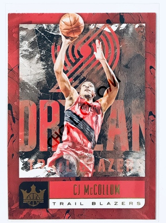 CJ McCollum Panini Court Kings 2018-19 NBA Base Card #42 Portland Trail Blazers