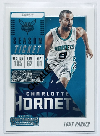 Tony Parker Panini Contenders 2018-19 Base Card #14 Charlotte Hornets