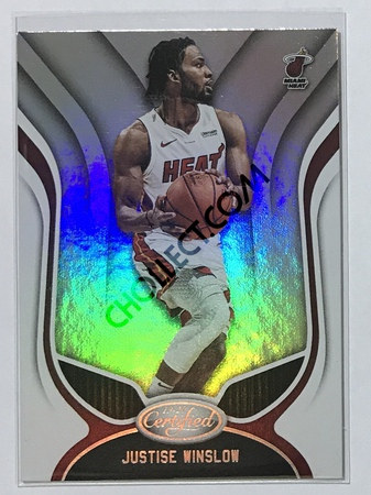 Justise Winslow Panini Certified 2019-20 Base Card #10 Miami Heat