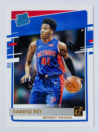 Saddiq Bey - Detroit Pistons 2020-21 Panini Donruss Rated Rookie #210