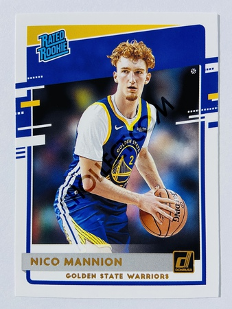Nico Mannion - Golden State Warriors 2020-21 Panini Donruss Rated Rookie #245