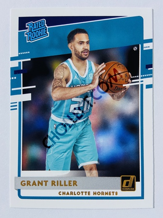 Grant Riller - Charlotte Hornets 2020-21 Panini Donruss Rated Rookie #250