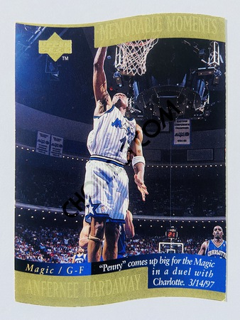 Anfernee Hardaway - Orlando Magic 1998 Upper Deck Memorable Moment #3