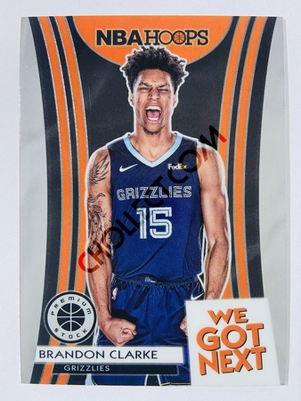 Brandon Clarke - Memphis Grizzlies 2019-20 Panini Hoops Premium Stock We Got Next Insert #4
