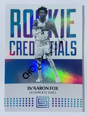 De'Aaron Fox - Sacramento Kings 2017-18 Panini Status Rookie Credentials #16