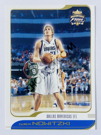 Dirk Nowitzki - Dallas Mavericks 2001-02 Fleer Focus Jersey Edition #61