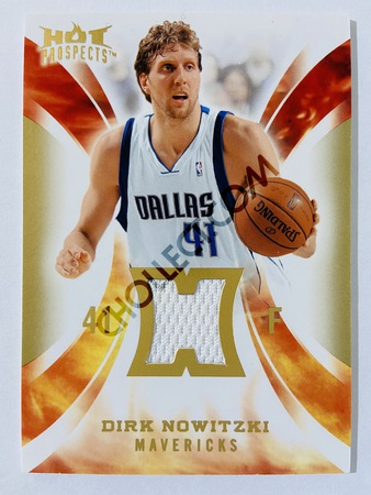 Dirk Nowitzki - Dallas Mavericks 2008-09 Fleer Hot Prospects Hot Materials #HM-DN