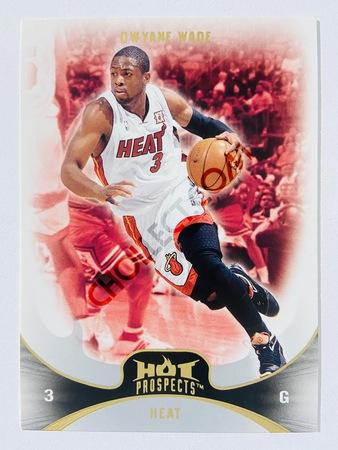Dwyane Wade - Miami Heat 2008-09 Fleer Hot Prospects #81