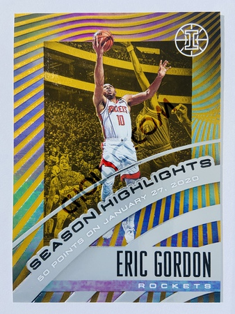 Eric Gordon - Houston Rockets 2019-20 Panini Illusions Season Highlights Orange Parallel #17 | 071/125