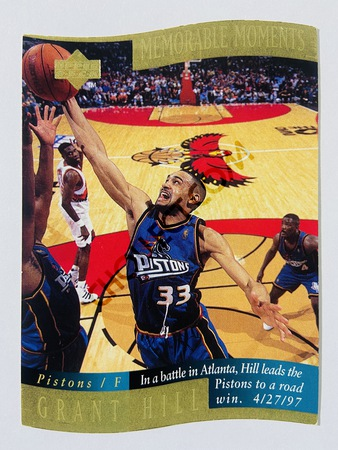 Grant Hill - Detroit Pistons 1998 Upper Deck Memorable Moment #2