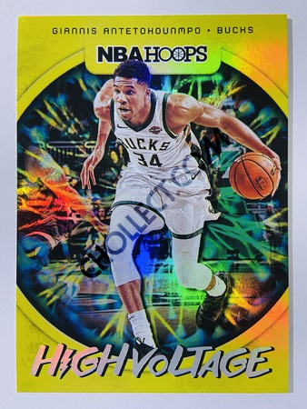 Giannis Antetokounmpo - Milwaukee Bucks 2019-20 Panini Hoops High Voltage #11