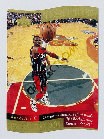 Hakeem Olajuwon - Houston Rockets 1998 Upper Deck Memorable Moment #8