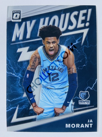 Ja Morant - Memphis Grizzlies 2019-20 Panini Donruss Optic My House! RC Rookie Card #7