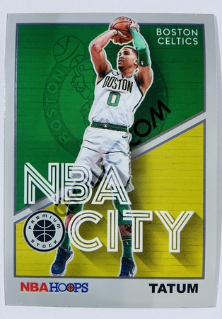 Jayson Tatum - Boston Celtics 2019-20 Panini Hoops Premium Stock NBA City Insert #4