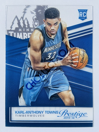 Karl-Anthony Towns - Minnesota Timberwolves 2015-16 Panini Prestige Acetate RC Rookie Card #34