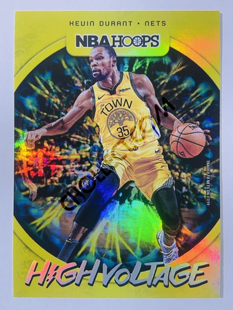Kevin Durant - Brooklyn Nets 2019-20 Panini Hoops High Voltage #3