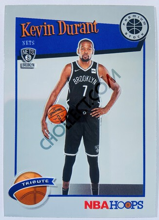 Kevin Durant - Brooklyn Nets 2019-20 Panini Hoops Premium Stock Tribute #284