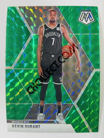 Kevin Durant - Brooklyn Nets 2019-20 Panini Mosaic Green Parallel #1