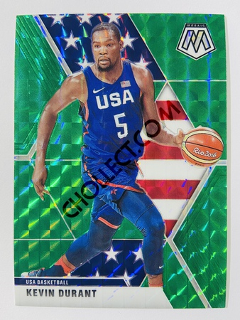 Kevin Durant - USA Basketball 2019-20 Panini Mosaic Green Parallel #251