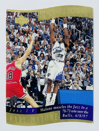 Karl Malone - Utah Jazz 1998 Upper Deck Memorable Moment #7