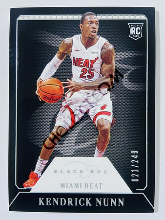 Kendrick Nunn - Miami Heat 2019-20 Panini Chronicles Elite Black Box RC Rookie Card #329 | 021/249
