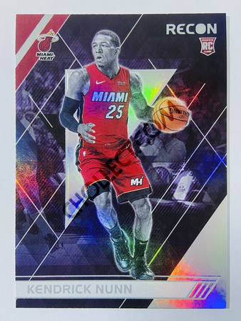 Kendrick Nunn - Miami Heat 2019-20 Panini Chronicles Recon RC Rookie Card #300