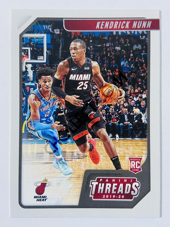 Kendrick Nunn - Miami Heat 2019-20 Panini Chronicles Threads RC Rookie Card #82