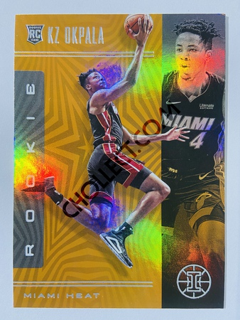 KZ Okpala - Miami Heat 2019-20 Panini Illusions Orange Parallel RC Rookie Card #200