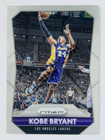 Kobe Bryant - Los Angeles Lakers 2015-16 Panini Prizm Base Card #182