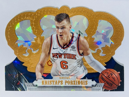 Kristaps Porzingis - New York Knicks 2017-18 Panini Crown Royale Crystal Parallel #80 | 71/99