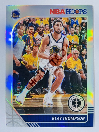 Klay Thompson - Golden State Warriors  2019-20 Panini Hoops Premium Stock Silver Parallel #60