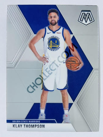 Klay Thompson - Golden State Warriors 2019-20 Panini Mosaic Base Card #80