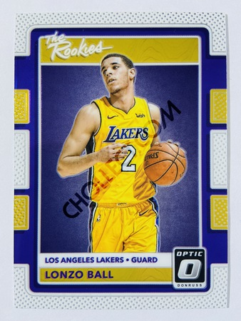 Lonzo Ball - Los Angeles Lakers 2017-18 Panini Donruss Optic The Rookies #2