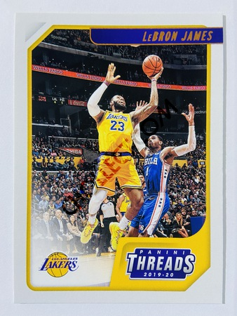 LeBron James - Los Angeles Lakers 2019-20 Panini Chronicles Threads Bronze Parallel #86