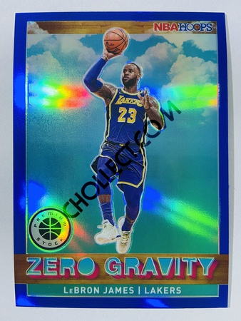 LeBron James - Miami Heat 2019-20 Panini Hoops Premium Stock Zero Gravity Insert Blue Parallel #18
