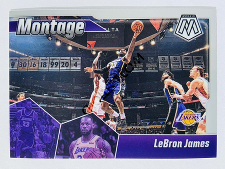 LeBron James - Los Angeles Lakers 2019-20 Panini Mosaic Montage Insert #10