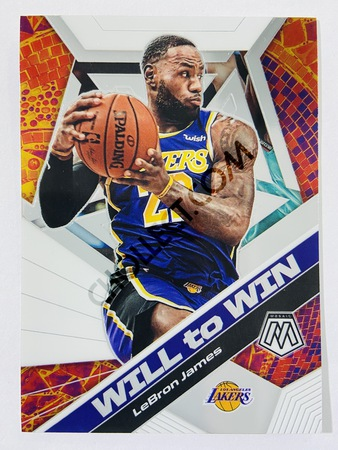 LeBron James - Los Angeles Lakers 2019-20 Panini Mosaic Will to Win Insert #7