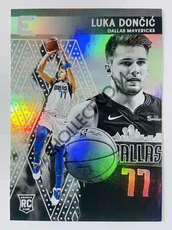 Luka Doncic - Dallas Mavericks 2018-19 Panini Chronicles Essentials RC Rookie Card #214