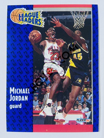 Michael Jordan - Chicago Bulls 1991 Fleer League Leaders #220