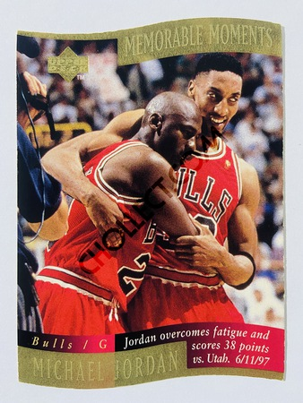 Michael Jordan - Chicago Bulls 1998 Upper Deck Memorable Moment #1