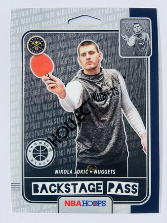 Nikola Jokic - Denver Nuggets 2019-20 Panini Hoops Premium Stock Backstage Pass Insert #4