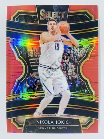 Nikola Jokic - Denver Nuggets 2019-20 Panini Select Concourse Red Prizm Parallel #69 | 152/199