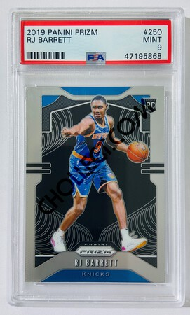RJ Barrett - New York Knicks 2019-20 Panini Prizm RC Rookie Card #250 [PSA MT 9] SN: 47195868
